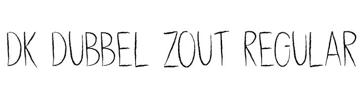 DK Dubbel Zout Regular 字体