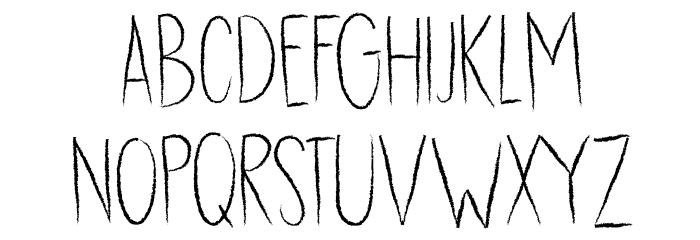 DK Dubbel Zout Regular フォント 大文字