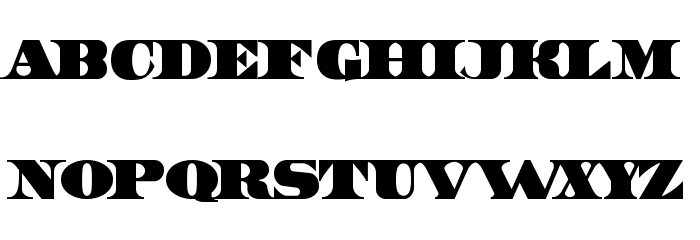 Dollar Font UPPERCASE