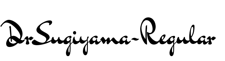 DrSugiyama-Regular Free Fonts Download