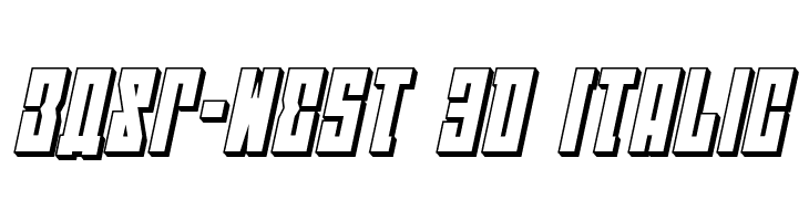 EAST-west 3D Italic  Free Fonts Download