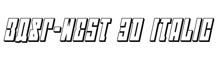 EAST-west 3D Italic  フリーフォントのダウンロード