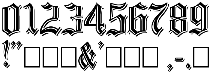 EmbossedBlack Normal Font OTHER CHARS