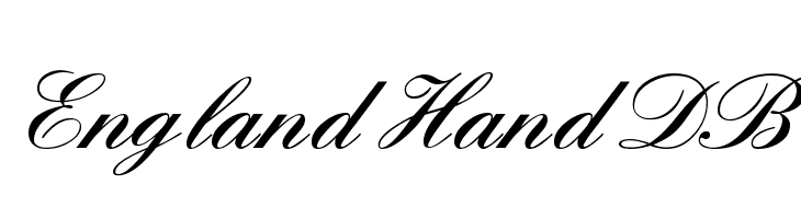 England Hand DB Free Fonts Download