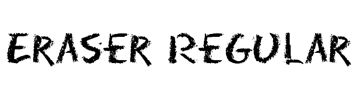 Eraser Regular Free Fonts Download