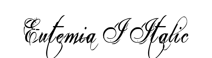 Eutemia I Italic Free Fonts Download