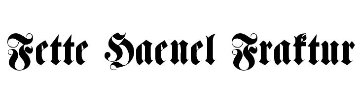 Fette Haenel Fraktur  les polices de caractères gratuit télécharger