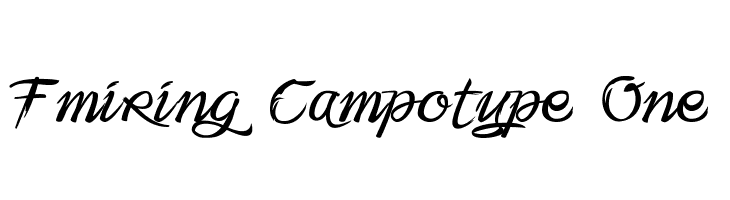 Fmiring Campotype One Free Fonts Download