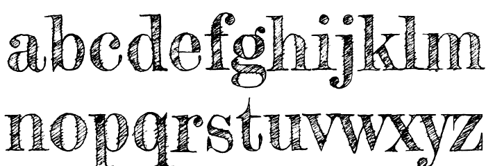 Fredericka the Great Font LOWERCASE