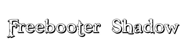 Freebooter Shadow Free Fonts Download
