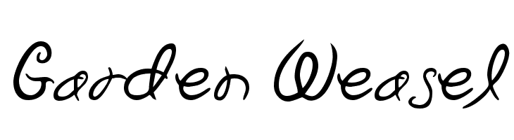 Garden Weasel Free Fonts Download