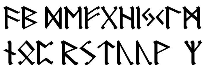Germanic Runes Font LOWERCASE