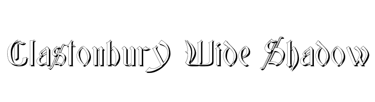 Glastonbury Wide Shadow Free Fonts Download