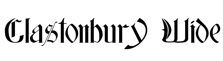 Glastonbury Wide Free Fonts Download
