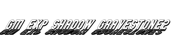 GM Exp Shadow Gravestone2 Free Fonts Download