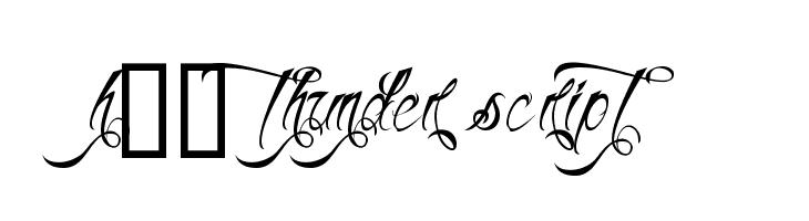 H74 Thunder Script  नि: शुल्क फ़ॉन्ट्स डाउनलोड