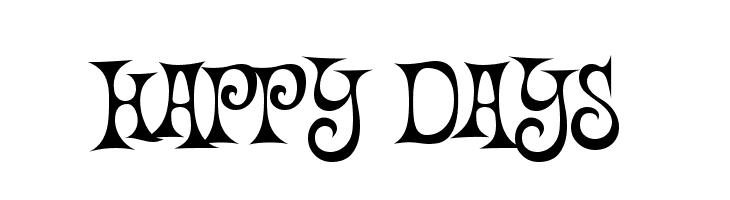 Happy Days  フリーフォントのダウンロード