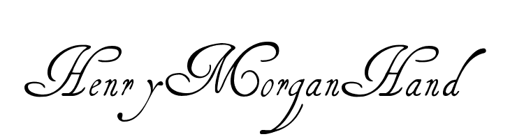 HenryMorganHand Free Fonts Download