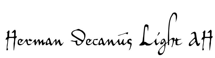 Herman Decanus Light AH  नि: शुल्क फ़ॉन्ट्स डाउनलोड