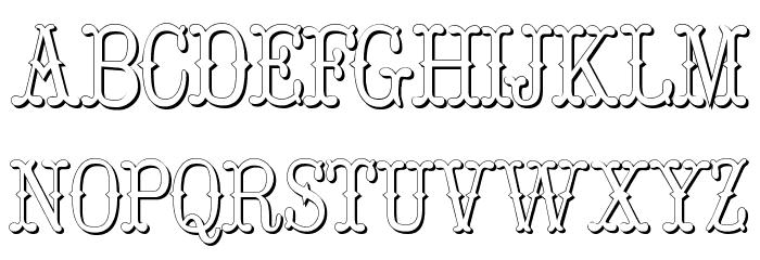 Hoedown Shadow Font UPPERCASE