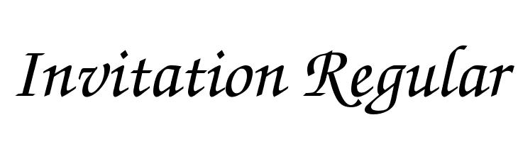 Invitation Regular  Fuentes Gratis Descargar