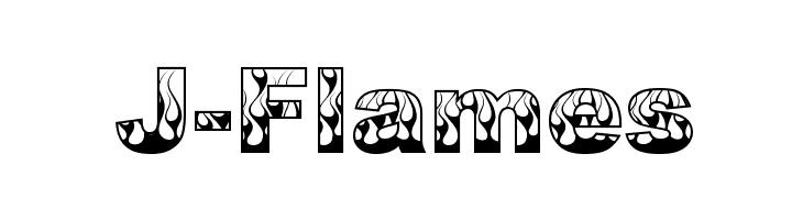 J-Flames  Frei Schriftart Herunterladen