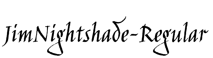 JimNightshade-Regular Free Fonts Download