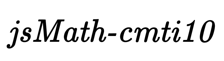 jsMath-cmti10 Free Fonts Download