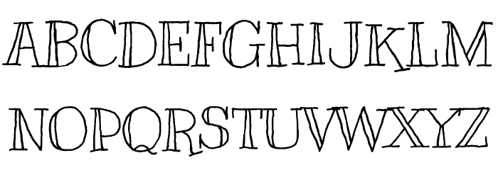 Kranky Font UPPERCASE