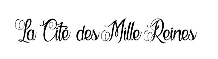 La Cit� des Mille Reines  フリーフォントのダウンロード