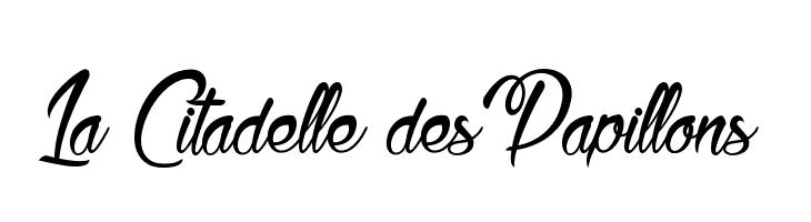 La Citadelle des Papillons  フリーフォントのダウンロード