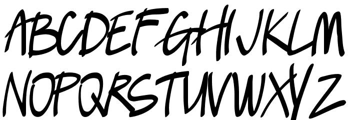 Lush Font UPPERCASE