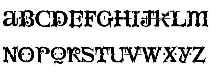 LushUs Medium Font UPPERCASE