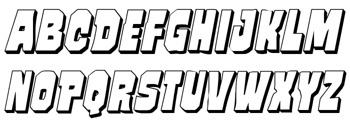 Mindless Brute 3D Italic フォント 大文字