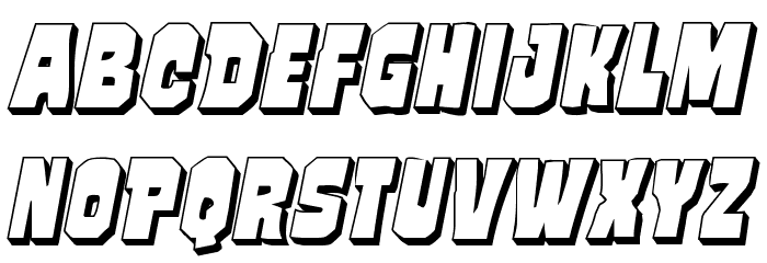 Mindless Brute 3D Italic フォント 小文字