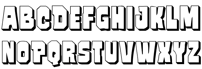 Mindless Brute 3D Font LOWERCASE