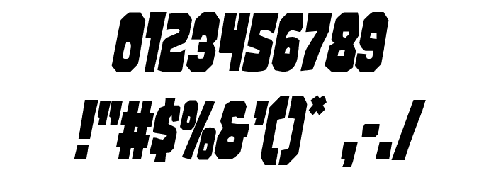 Mindless Brute Condensed Italic Font OTHER CHARS