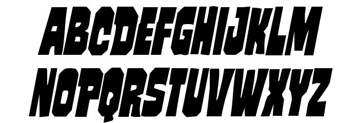 Mindless Brute Condensed Italic Schriftart Groß