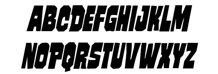 Mindless Brute Condensed Italic Schriftart Kleinbuchstaben