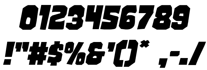 Mindless Brute Expanded Italic 字体 其它煤焦