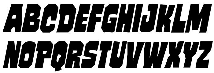 Mindless Brute Italic 字体 大写