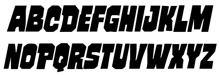 Mindless Brute Italic Font LOWERCASE