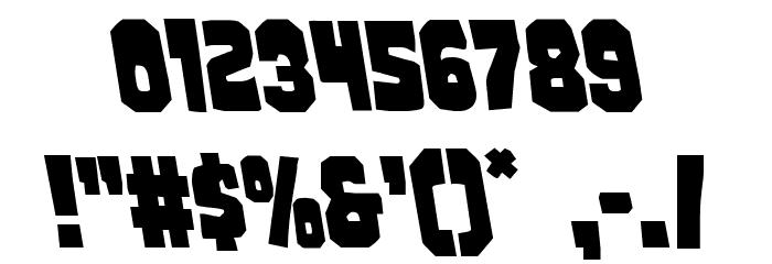 Mindless Brute Leftalic Font OTHER CHARS