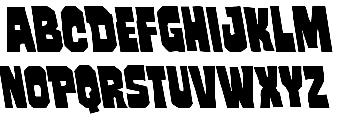Mindless Brute Leftalic Font UPPERCASE