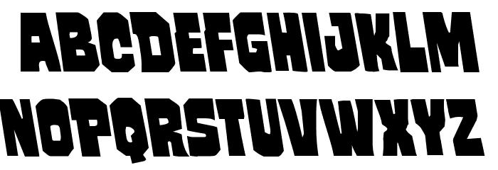 Mindless Brute Leftalic Font LOWERCASE