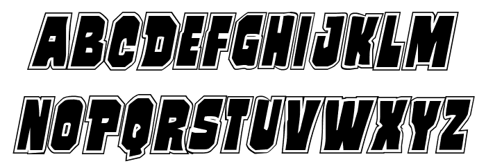 Mindless Brute Poster Italic Font LOWERCASE