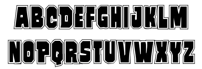 Mindless Brute Poster Font LOWERCASE
