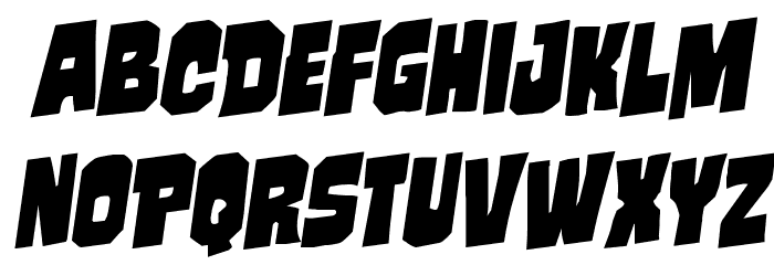 Mindless Brute Rotalic Font LOWERCASE