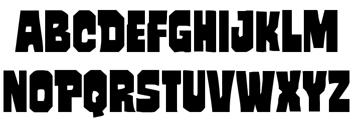 Mindless Brute Staggered Font LOWERCASE