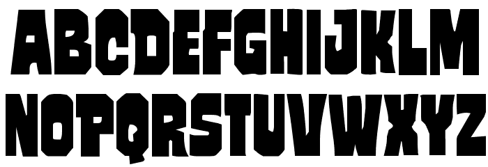 Mindless Brute Font UPPERCASE